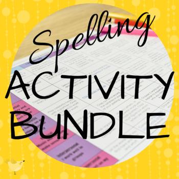 Editable Spelling Activity Matrix, PPT & Task Cards: 42 Bl