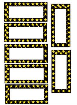 Editable Star Teacher Toolbox Labels
