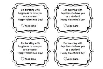 Editable Starburst Valentine's