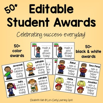 Editable Student Awards for Everyday Occasions