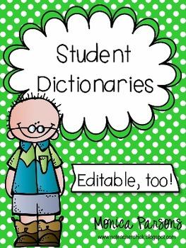 Editable Student Dictionaries