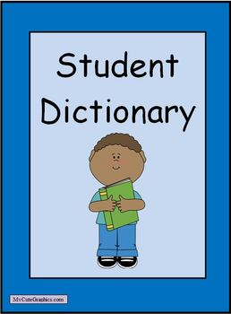 Editable Student Dictionary - Divided into Themes