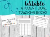 Editable Student Goal Tracking Book