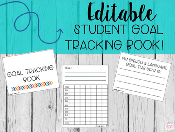 Editable Student Goal Tracking Book