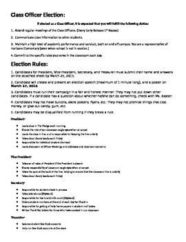 *Editable* Student Governement Election