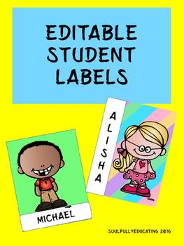 Editable Student Labels
