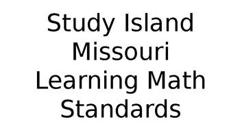 Editable Study Island Data Charts