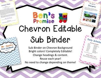 Editable Sub Binder with Chevron Background