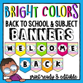 Subject Banners- Editable