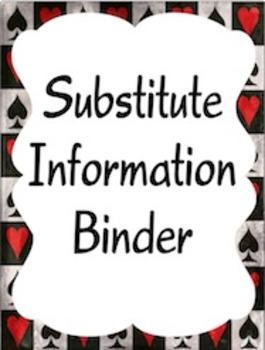 Editable Substitute Binder (Wonderland Theme)