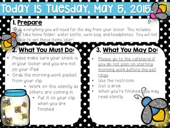 Editable Summer-May-June Morning Work/Message Template
