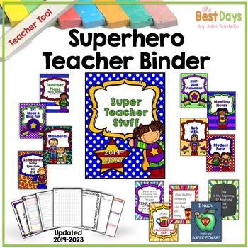 Editable Super Hero Teacher Planner