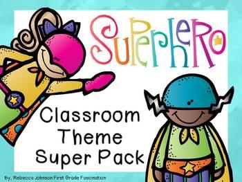 Editable Superhero Calendar Classroom Super Pack