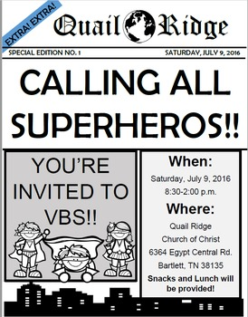 Editable Superhero Invitation