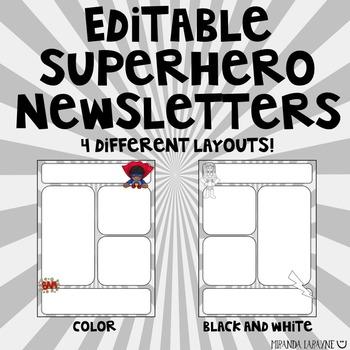 Editable Superhero Newsletter