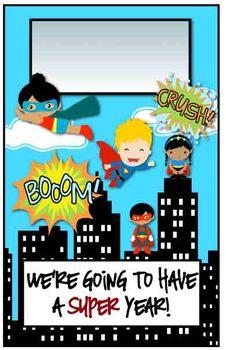 Editable Superhero Posters