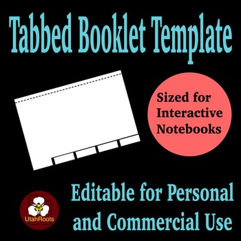 Tabbed Booklet (Flip Book) Template for Personal and Comme