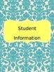 Editable Teacher Binder (Blue and Yellow)
