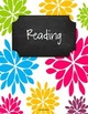 {Editable Teacher Binder} Bright Floral Burst Chalkboard