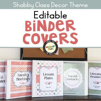 Shabby Class Editable Binder Covers