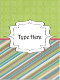 Editable Teacher Binder Divider Templates
