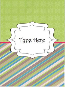 Editable Teacher Binder Divider Templates