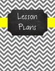 {Editable Teacher Binder} Gray Chevron Chalkboard with Lem