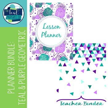 Editable Teacher Binder & Lesson Planner Bundle: Teal and
