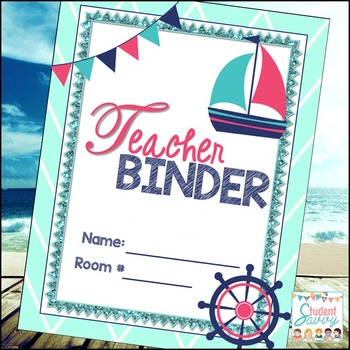 Nautical Teacher Binder