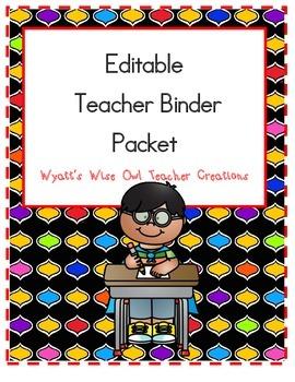 Editable Teacher Binder Packet Retiring Soon