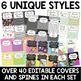 Editable Teacher Binders {6 Complete Styles to Choose From}