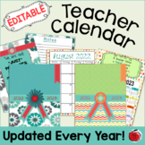 Editable Teacher Calendar - FREE Updates for Life!