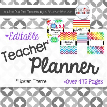 Editable Teacher Lesson Planner (Colorful Rainbow Theme)