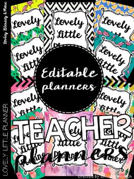 Editable Teacher Planner All in One Pack 2016-2017