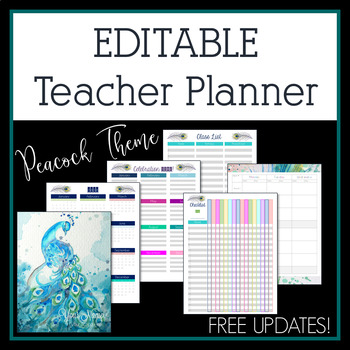 Editable Teacher Planner, Binder, and Organizer in MS Word