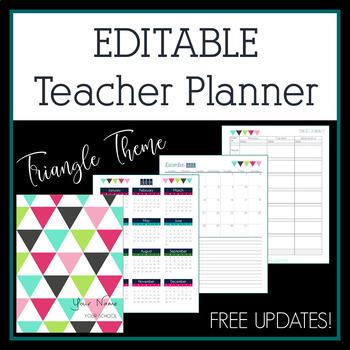 Editable Teacher Planner, Binder, and Organizer in MS Word