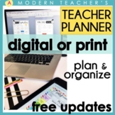 Teacher Binder and Planner Editable :: Free Updates (Chevron)