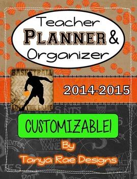 Planner / Organizer Binder - Basketball Theme {2014-2015}