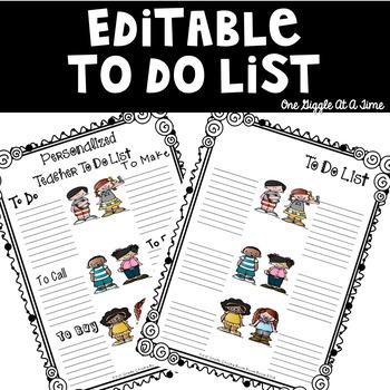 Editable Teacher To Do List