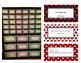 Editable Teacher Toolbox Labels--Red, black, white dots