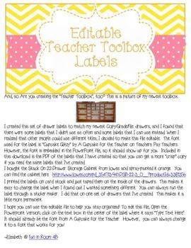 Editable Teacher Toolbox {Yellow/Pink/Orange}