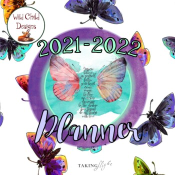 Editable Teacher's Binder/Planner: Butterfly Themed