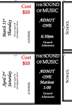 Editable Tickets for Performance, Musical Tickets