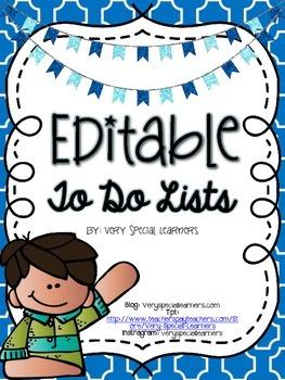 Editable To Do Lists!