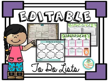 Editable To Do Lists