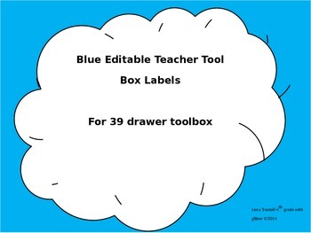 Editable Toolbox labels for 39 Drawers