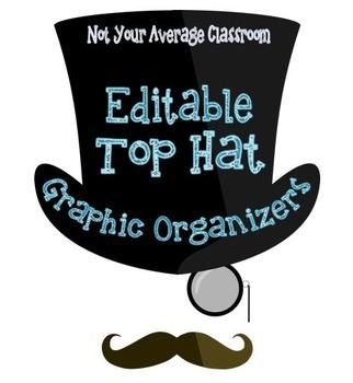 Editable Top Hat Graphic Organizer Templates PLUS A Sample