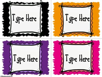 Editable Torn Paper  Labels