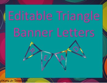 Editable Triangle Banner Letters