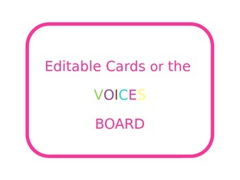 Editable VOICES Board Cards